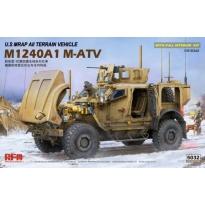 U.S MRAP All Terrain Vehicle M1240A1 M-ATV With full interior (1:35)