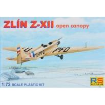 Zlin Z-XII - otwarta kabina (1:72)