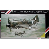 "Brewster Buffalo Model 339-23 ""in RAAF and USAAF. Colors"" (1:48)"