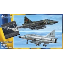 SAAB 37 Viggen Duo Pack & Book (1:72)