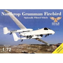 Northrop Grumman Firebird - Optionally Piloted vehicle with antennas and sensors (1:72)