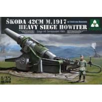 Skoda 42cm M1917 Heavy Siege Howitzer w/Marshal Manstein (1:35)