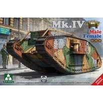 WW I Heavy Battle Tank Mk.IV 2 in 1( Special edition with new decal and cement-free workable tracks) (1:35)
