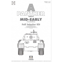 WWII German medium Tank  Sd.Kfz.171 Panther A mid-early production w/ full interior kit (1:35)