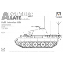 WWII German medium Tank Sd.Kfz.171 Panther A late production w/ full interior kit (1:35)