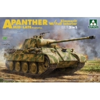 Panther A Zimmerit w/Full Interior MID-LATE Production (2 in 1) (1:35)