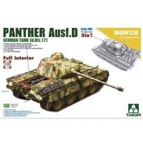 WWII German medium Tank Sd.Kfz.171 Panther Ausf.D Early/Mid production w/full interior kit 2 in 1 (1:35)