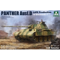 WWII German medium Tank Sd.Kfz.171 Panther Ausf.D Late production w/ Zimmerit/ full interior kit (1:35)