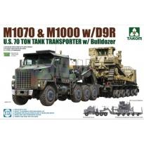 M1070 & M1000 w/D9R U.S. 70 Ton Tank Transporter w/Bulldozer (1:72)