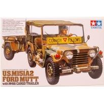 U.S. M151A2 W/Cargo Trailer (1:35)