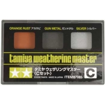 Tamiya Weathering Master C Set (Orange Rust, Gun Metal & Silver)