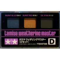 Tamiya Weathering Master D Set (Burnt Blue, Burnt Red & Oil Stain)