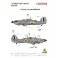 Hawker Hurricane Stencils (1:48)
