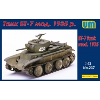 Tank BT-7 mod.1935 with the P-40 (1:72)