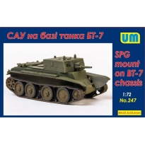 SPG mount on BT-7 chassis (1:72)