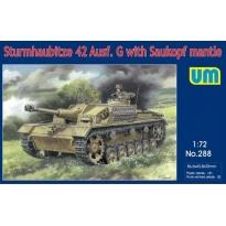 Sturmhaubitze 42 Ausf.G with Saukopf mantle  (1:72)