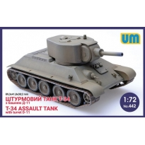 T-34 Assault Tank with Turret D-11 (1:72)