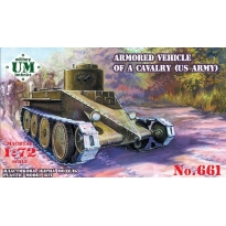"Armored vehicle of a cavalry ""Combat cars T1 "" (US Army) (1:72)"