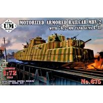 Motorized Armored Railcar MBV-2 with 76,2-mm Tank Guns L-11 (1:72)