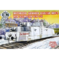 MBV-2 motorized armored railcar w.76,2mm Tank guns F-34 (1:72)