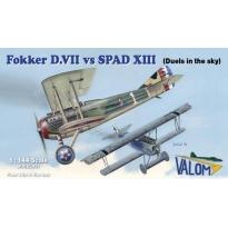 Fokker D.VII vs SPAD XIII (4 modele) (1:144)