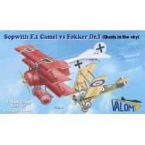 Sopwith F.1 Camel vs Fokker Dr.I (1:144)