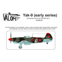 Yak-9 (early series) Conversion set for kit VALOM Yak-7: Konwersja (1:72)