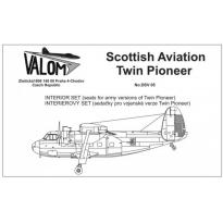 Interior set for Twin Pioneer (army seats): Waloryzacja (1:72)