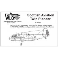 Interior set for Twin Pioneer (passengers seats): Waloryzacja (1:72)