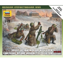Soviet 82-mm mortar with crew 1941-1943 (winter) (1:72)
