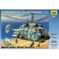 "Zvezda 7221 Russian Marine Support Helicopter Ka-29 ""Helix B"" (1:72)"