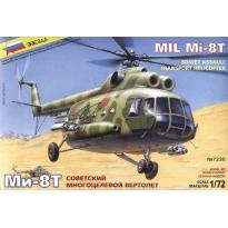 """Zvezda 7230 Soviet Military Helicopter Mi-8T """"Hip C"""" (1:72)"""