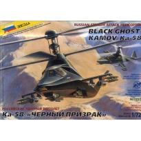 """Zvezda 7232 Russian Stealth Helicopter Ka-58 """"Black Ghost"""" (1:72)"""