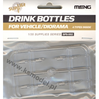 Drink bottles for vehicle / diorama (16 sztuk - 4 typy) (1:35)