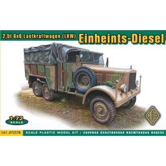 Einheints-Diesel 2,5t 6x6 Lastkraftwagen ( LKW) (1:72)