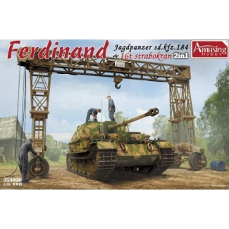 Sd.Kfz.184 Ferdinand & 16t Strabokran Full Interior/Clear Roof Parts (1:35)