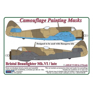 B.Beaufighter Mk.VI / Africa - Camouflage Painting Masks (1:72)
