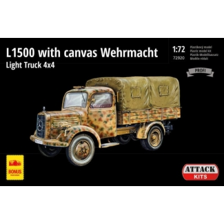 L1500A with canvas Wehrmacht Light Truck 4X4 (1:72)