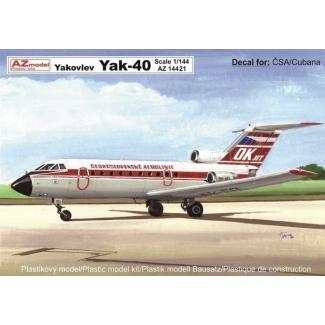 Yakovlev Yak-40 ČSA/Cubana (1:144)