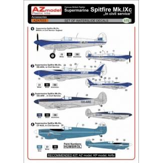 Supermarine Sputfire Mk.IXc In civil service decal (1:72)