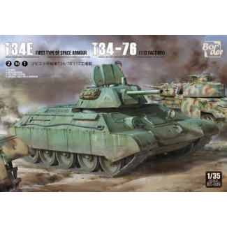 T34E First Type of Space Armour / T34-76 (112 factory) (2 in 1) - Limited Edition (1:35)