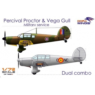 Dora Wings DW7202D Percival Proctor & Vega Gull (2 in 1) (1:72)