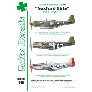 Exito ED48008 Yoxford Girls - North American P-51D Mustang (1:48)
