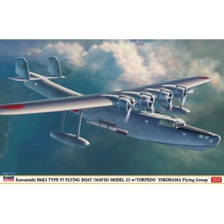 "Kawanishi H6K5 TYPE 97 FLYING BOAT (MAVIS) MODEL 23 w/TORPEDO ""YOKOHAMA Flying Group"" (1:72)"