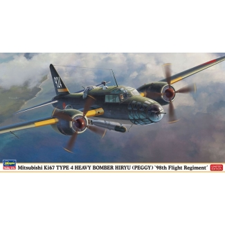 "Mitsubishi Ki67 TYPE 4 HEAVY BOMBER HIRYU (PEGGY) ""98th Flight Regiment"" (1:72)"