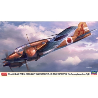 "Mitsubishi Ki46-III TYPE 100 COMMANDANT RECONNAISSANCE-PLANE (DINAH) INTERCEPTOR ""17th Company Independence Flight"" (1:72)"