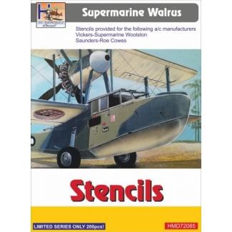 Supermarine Walrus stencils (1:72)
