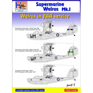 Supermarine Walrus Mk.I in FAA Service, Pt.1 (1:72)