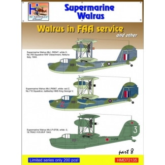 Supermarine Walrus in FAA Service and VVS, Pt.8 (1:72)
