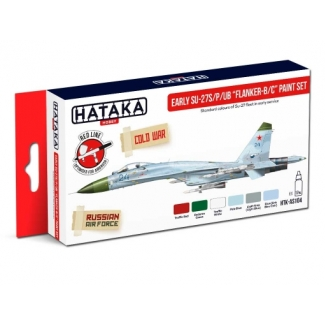 "Early Su-27S/P/UB ""Flanker-B/C"" paint set (6 x 17 ml.)"